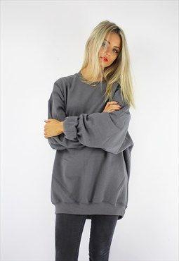 Basic oversized boyfriend sweater storm grey | Birthday Wishlist ...