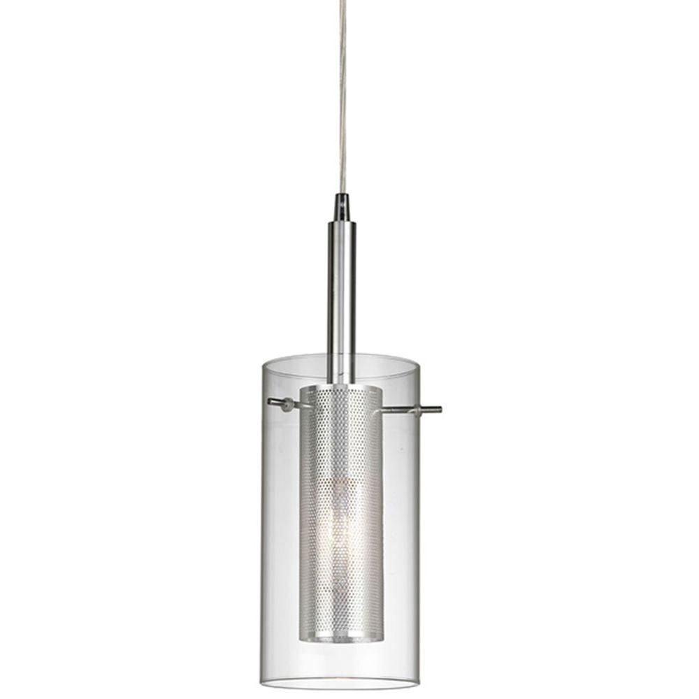 home decorators collection 1 light chrome dual shade mesh cylinder home decorators collection 1 light chrome dual shade mesh cylinder pendant