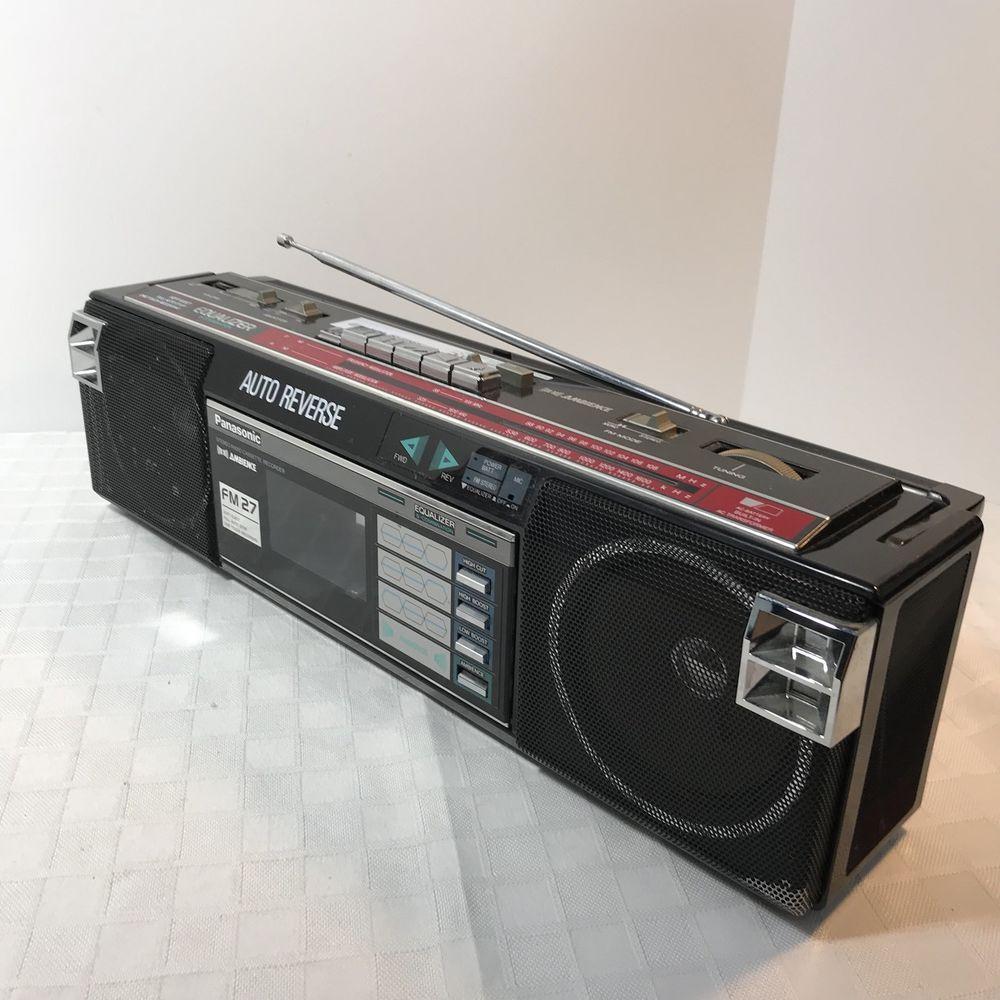Panasonic RX-FM27 Radio Cassette Deck Mini Boombox Portable