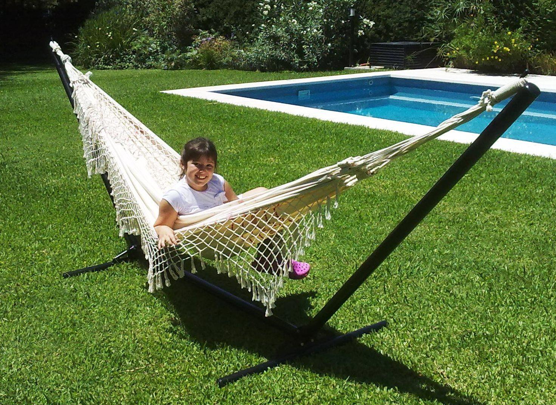 Soporte para hamacas paraguayas hammock modelo relax drgmundocolgante soportes para - Soporte hamacas ...