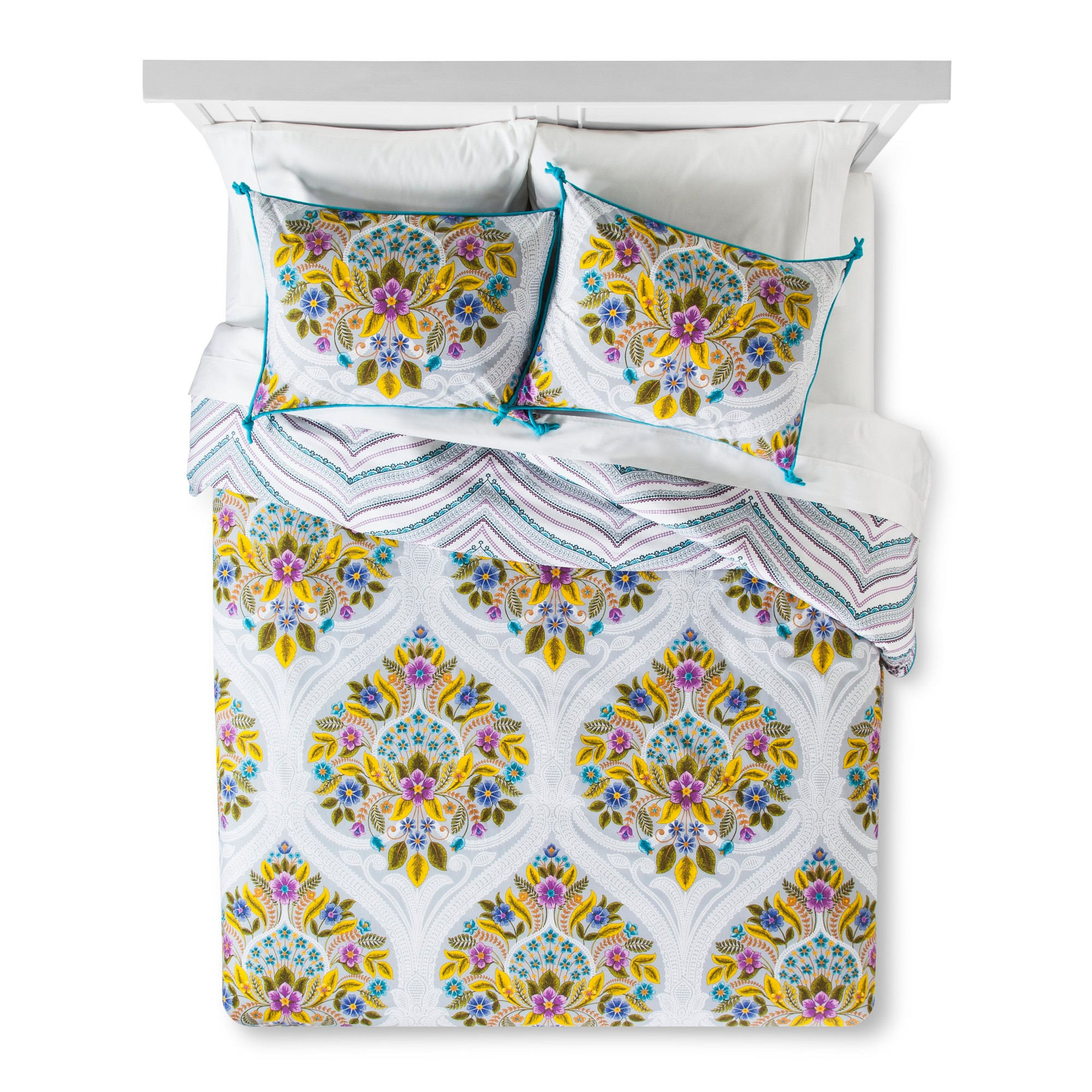 Indie Flower Duvet Cover Set Twin XL Boho Boutique