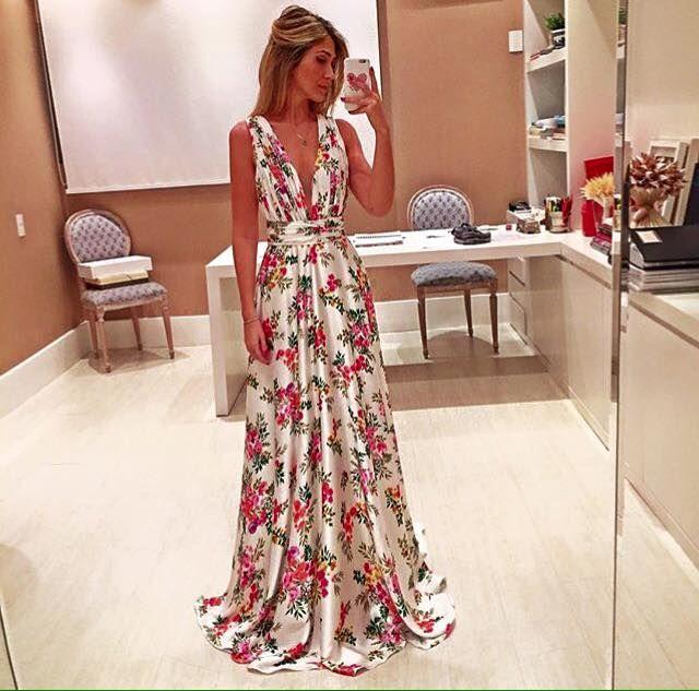 Opção de vestido Floral para madrinhas. Lindoooooo