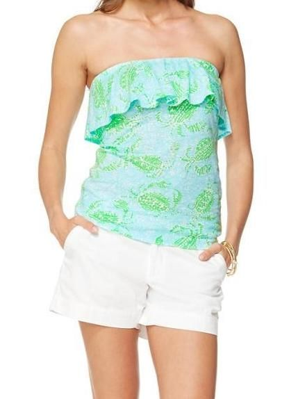 5d4fa53dc9 Lilly Pulitzer Wiley Ruffle Tube Top