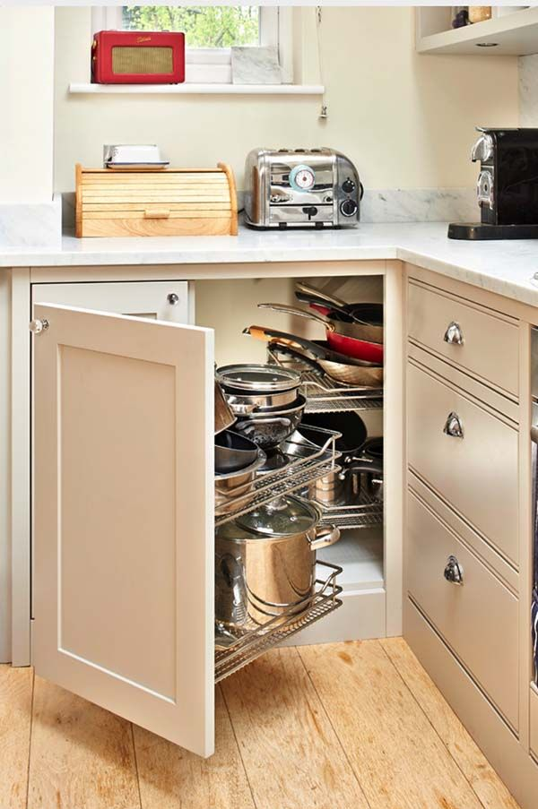 Innovative Space Saving Solutions For Your Kitchen Corner Kitchen Cabinet Kitchen Design Small Dining Room Combo