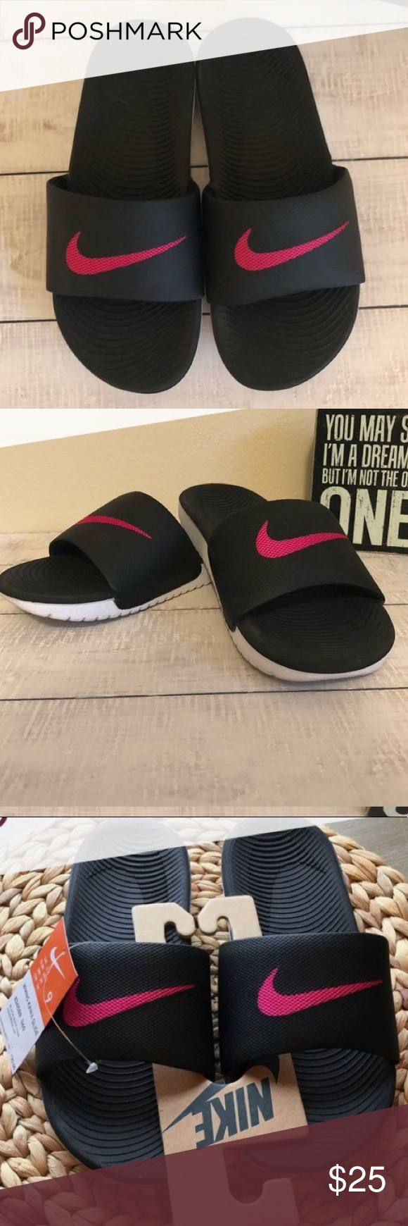 competitive price 9c483 577a0 Pink Nike Sandals good condition size 9 Nike Shoes Slippers ...