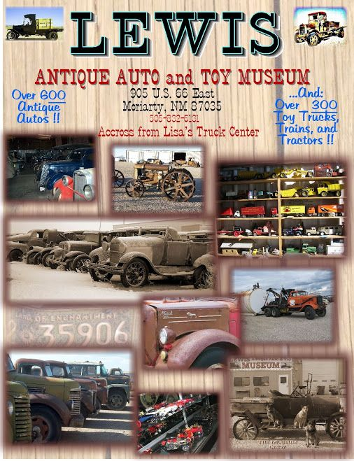 Lewis Antique Auto & Toy Museum Flyer.  Stop by and see us!