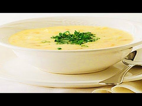 طريقة عمل شوربة كريمة الدجاج Food Soup Chowder