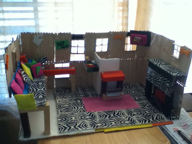 Monster High Doll House Made Out Of Popsicle Sticks And The Fancy Duct Tape