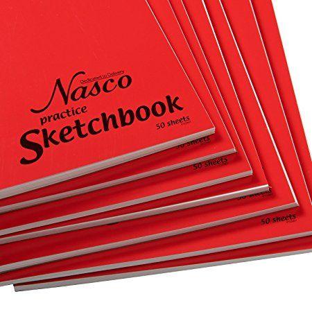 Amazon.com : Nasco Practice Student Artist Sketchbooks   50 Sheets, Bulk  Pack Of