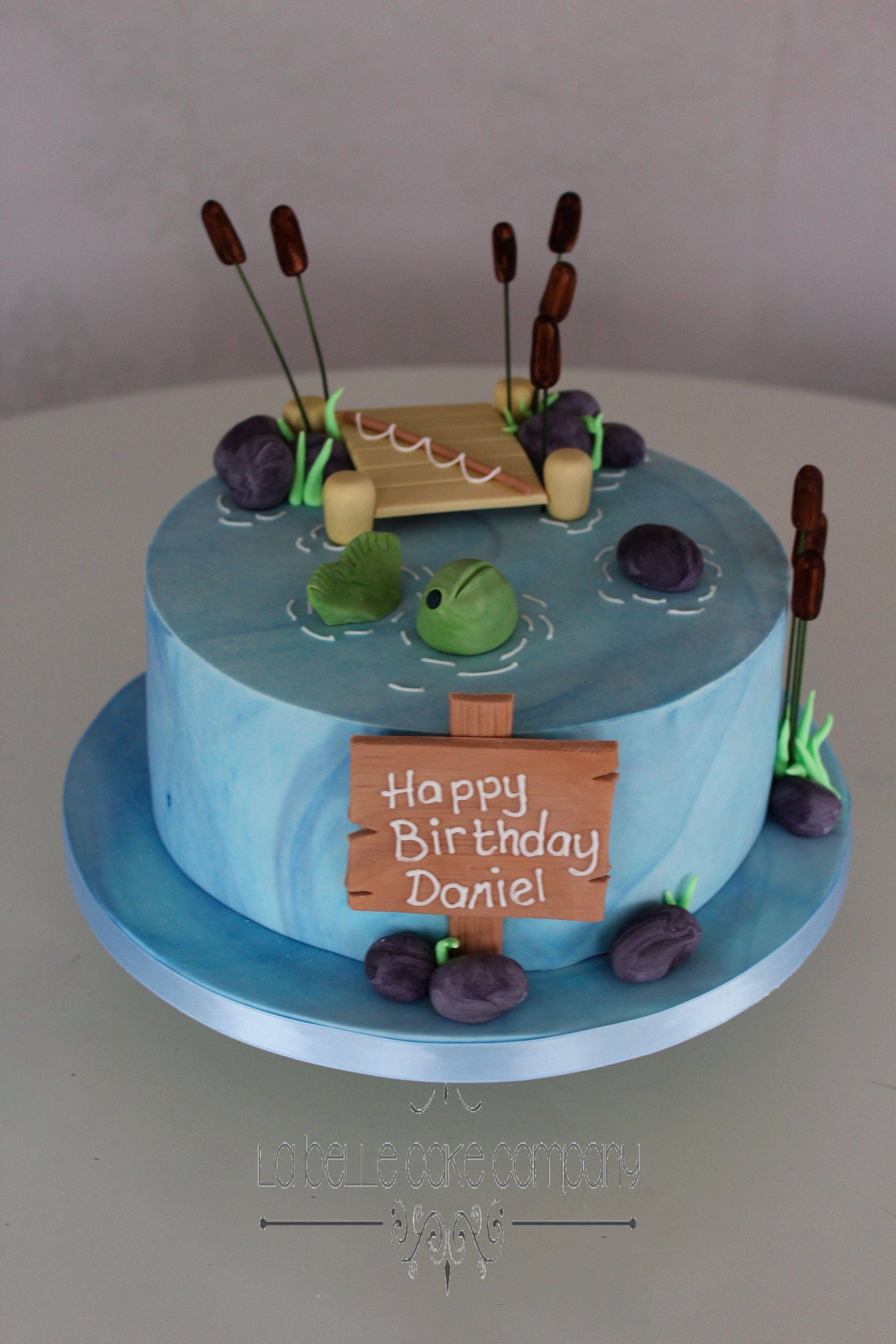 Fishing Angling Birthday Celebration Cake By La Belle Cake Company