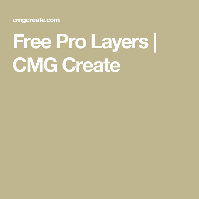 Free Pro Layers | CMG Create | Media Shout helps | Motion