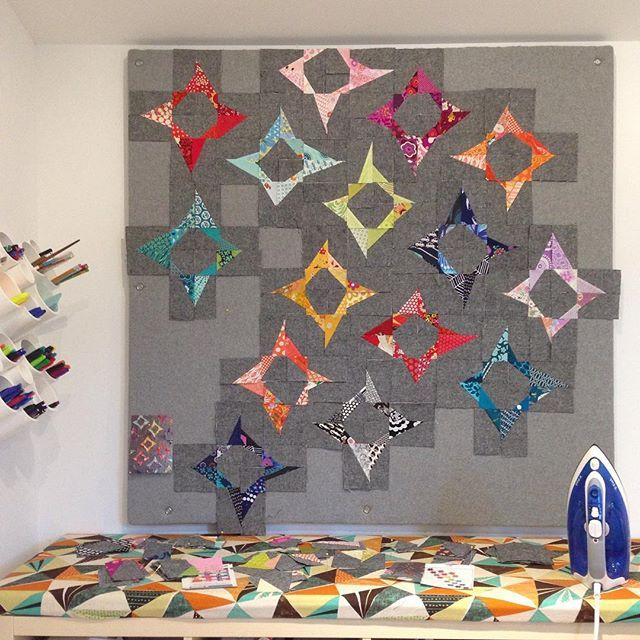 New quilt design wall up and tutorial on the blog. WIP sees light of day again. #magicnumberquilts