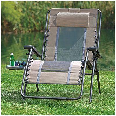 Oversized Zero Gravity Chair With Table Zero Gravity Chair Chair Outdoor Chairs