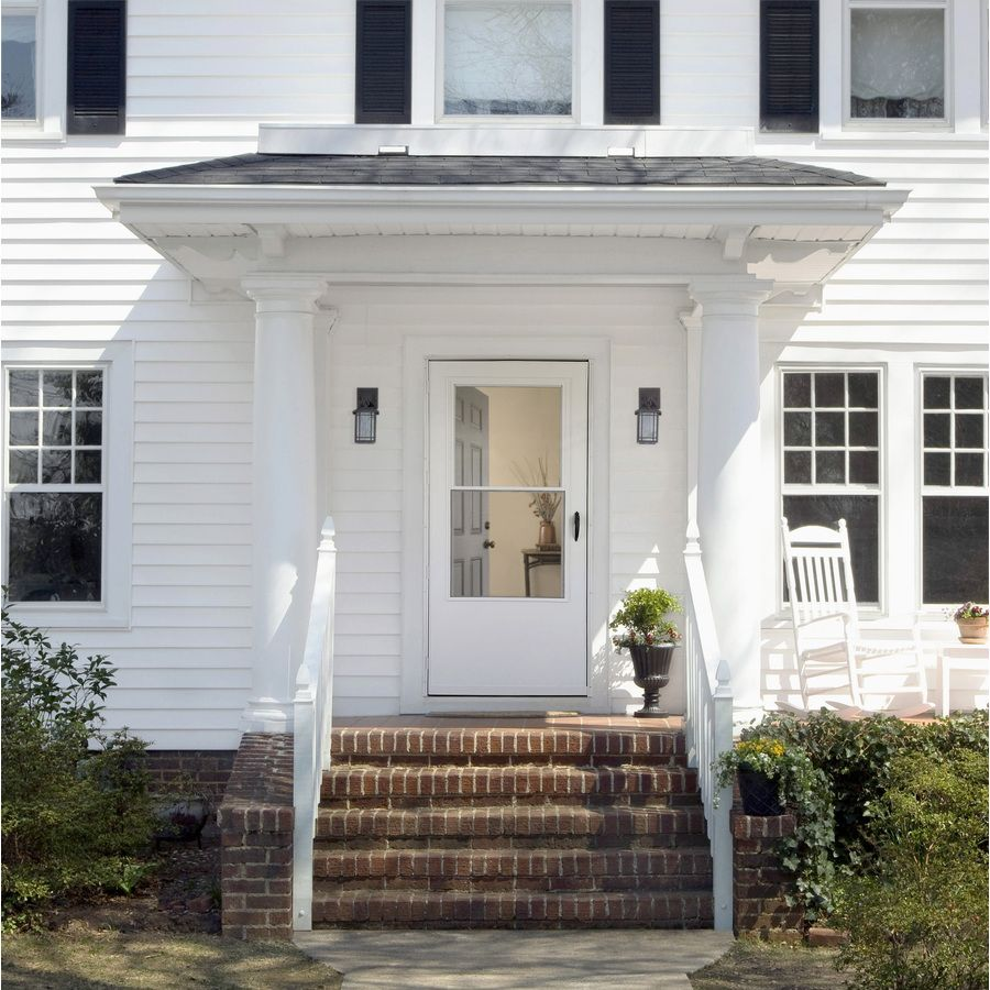 A White Storm Door On A White House Gives You A Clean And Classic