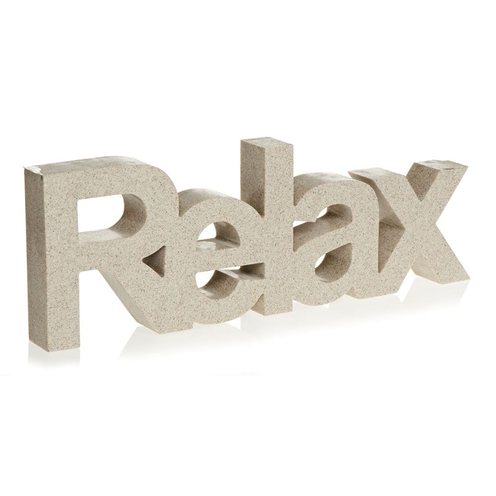 Wilko Relax Word Sandstone   Sandstone effect word ornament  Relax wording  design  Wipe clean with a damp cloth  Do not use harsh or abrasive cleaners  or. Wilko Relax Word Sandstone   bathroom   Pinterest   Bathroom