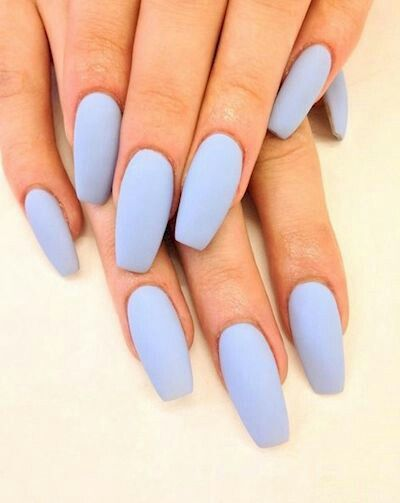 Who doesn't like blue mat nails?