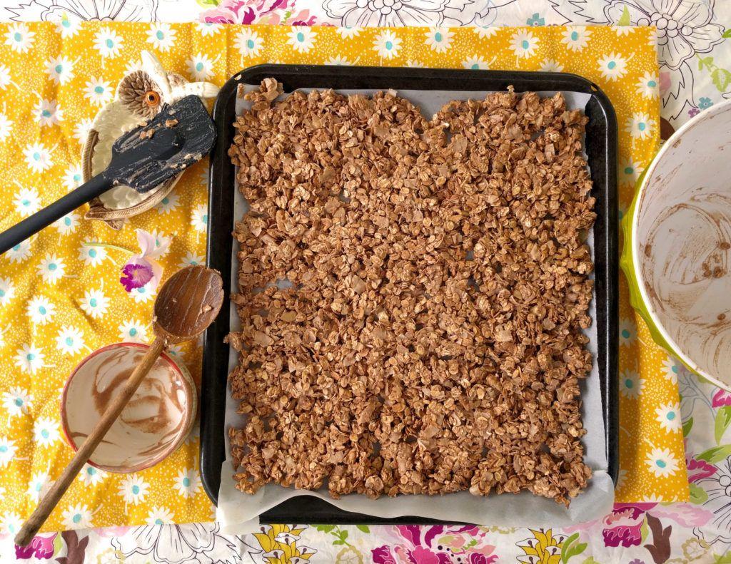 Coconut Vanilla Oil Free Granola Recipe Food, Whole