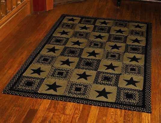 Beautiful Primitive Country Bathrooms | CountryStar Braided Rugs By IHF
