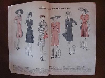 Vtg WWII Era July 1942 McCall's Style News Ladies Womens Girls Fashion Clothing | eBay
