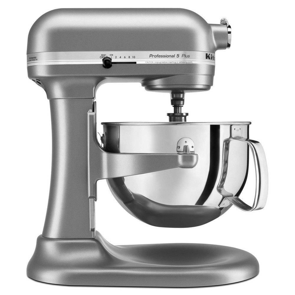 Kitchenaid professional 5qt mixer silver kv25g0x silver