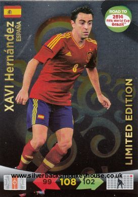 Adrenalyn Xl Road To 2014 Fifa World Cup Brazil Xavi Hernandez Limited Edition Trading Card