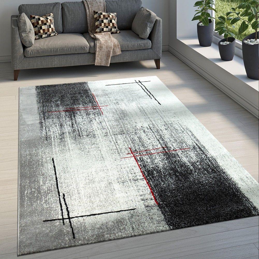 Design-Teppich Wohnzimmer Used-Look Meliert  Wohnzimmer teppich