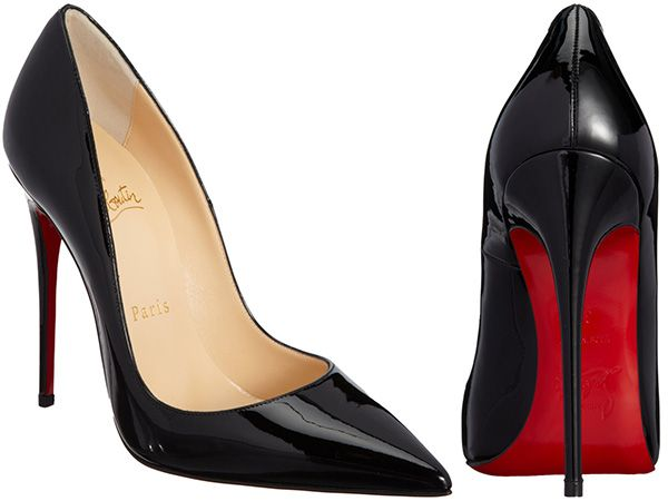 e161faf5f27 Christian Louboutin So Kate Pointed-Toe Stiletto Pumps in black patent