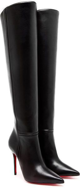 competitive price 4f337 0a65e LOUBOUTIN Armurabotta Leather Kneehigh Boots - Lyst ...