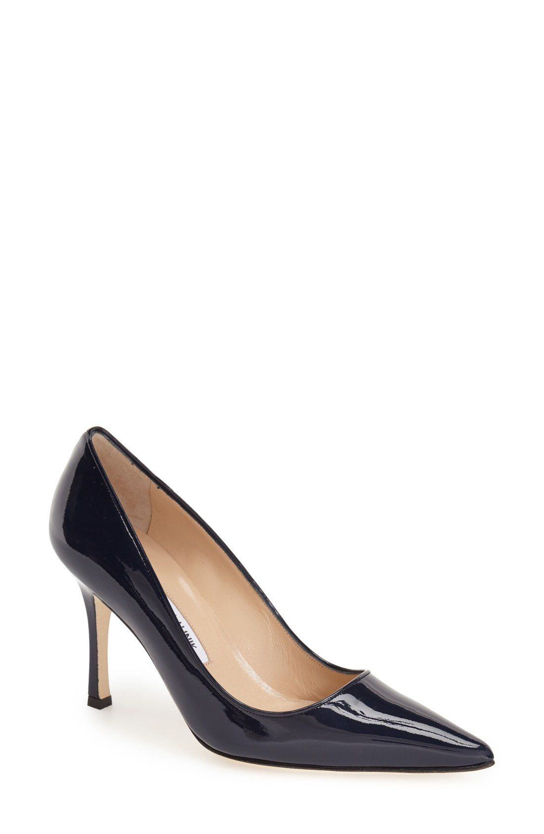 Manolo Blahnik Newcio Patent Pumps cheap USA stockist how much for sale discount official latest cheap online free shipping new arrival q7MF5c7