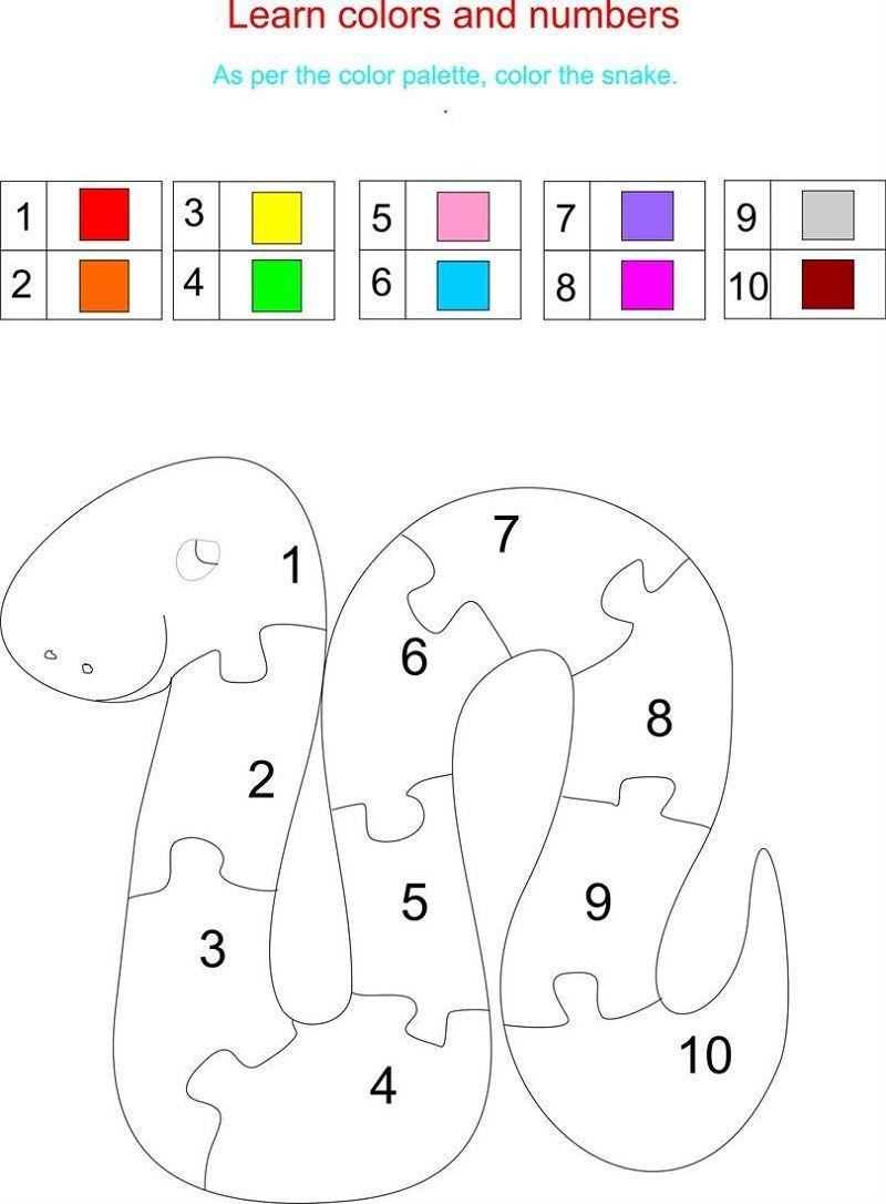 Color By Number Worksheet For Kids Coloring Worksheets For Kindergarten Learning Colors Color Worksheets [ 1086 x 800 Pixel ]