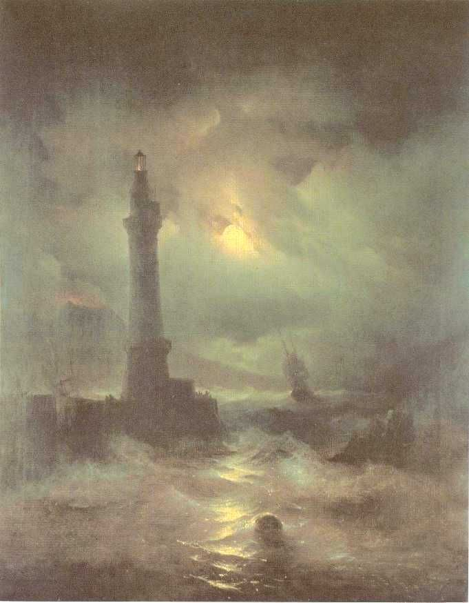 The lighthouse of Naples Ivan Constantinovich Aivazovsky - 1842