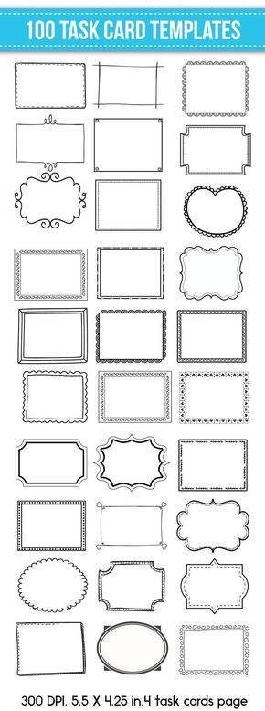 Task Card Templates Flash Card Templates Editable For