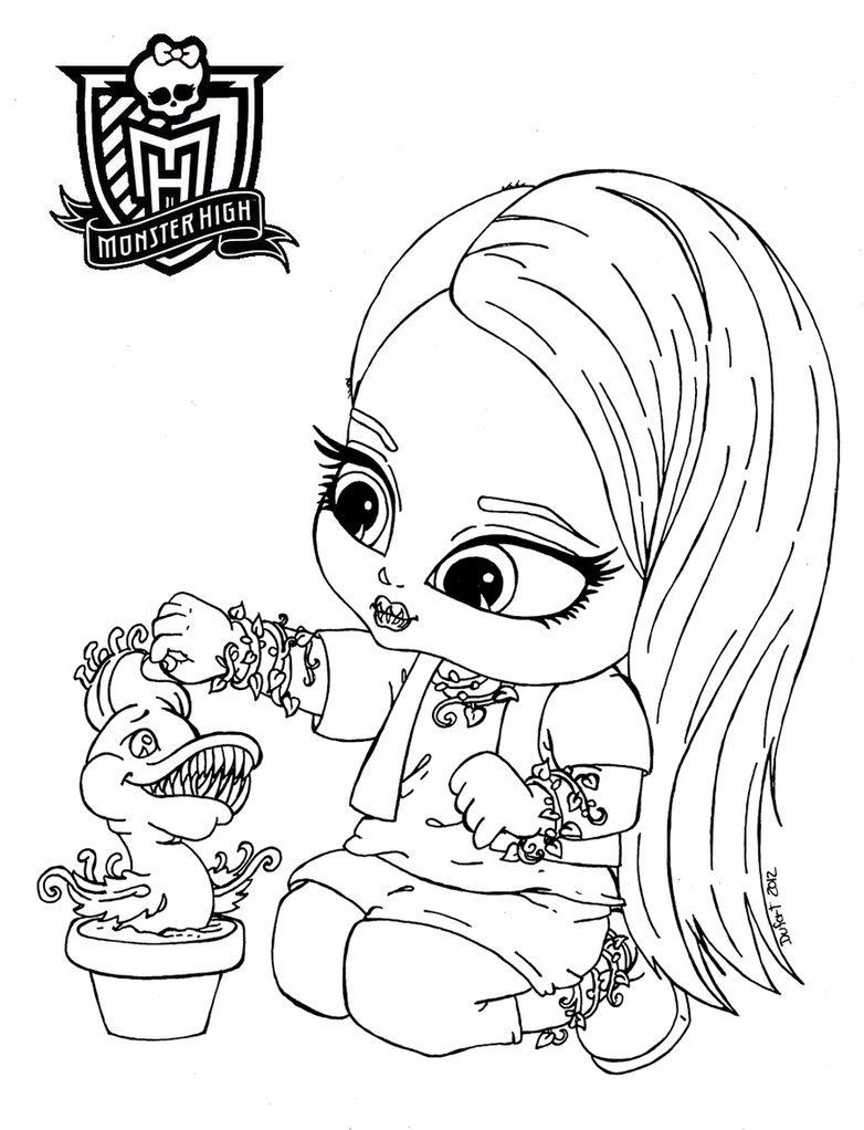 14 Pics of Monster High Baby Coloring Pages To Print - Monster ...