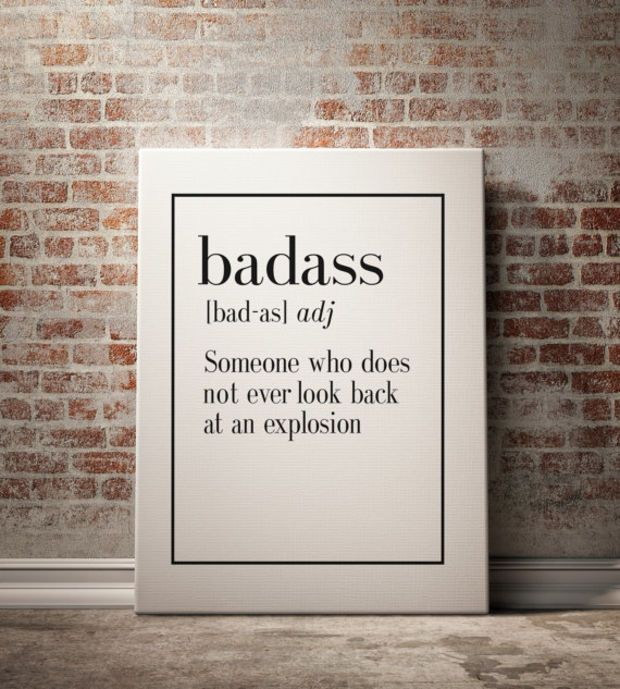 Printable Badass Definition Print Funny Wall Art Home Decor Art Print Kitchen Wall Art Funny Wall Art Inspirational Quote Typography Print