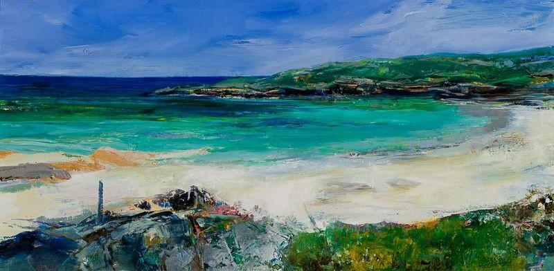 Beach with Grassy Headland, Hebrides
