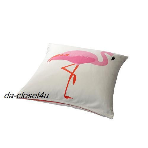 Ikea Cushion Cover Springkorn Summer Fun Pink Flamingo 20 x 20