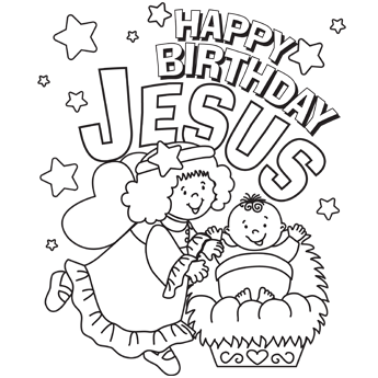 christmas coloring pages secular and a great happy birthday jesus page to color homeschool. Black Bedroom Furniture Sets. Home Design Ideas