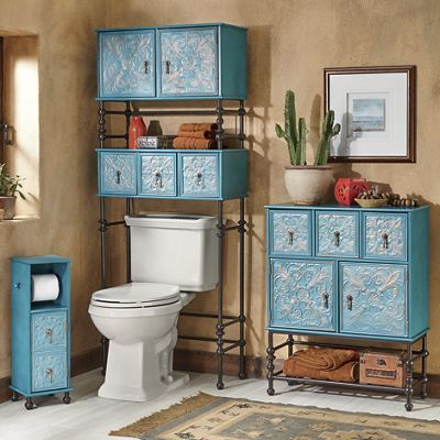 embossed floral toilet paper stand space saver and bath cabinet - Bathroom Cabinets Space Saver