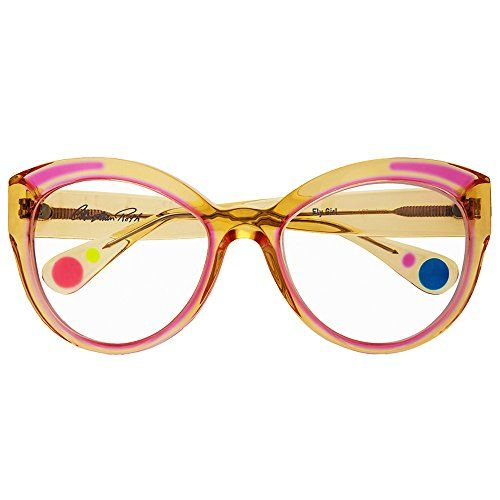 1257b000a3 Christian Roth Optical 2015 Fly Girl in Camel Crystal - pink