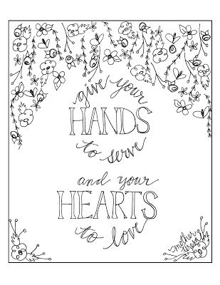 Look to Him and be Radiant: Mother Teresa Quote Coloring