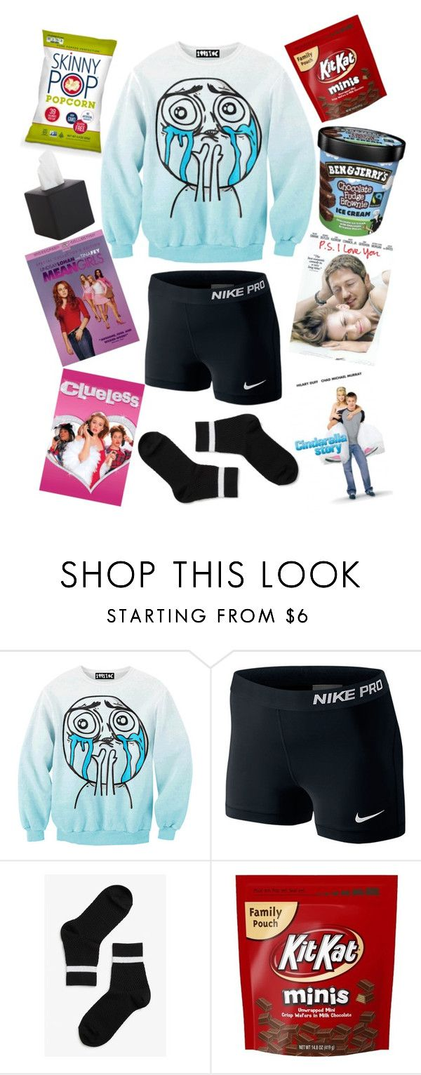 """Chick Flick Survival Pack"" by sjgil2000 on Polyvore featuring Chicnova Fashion, NIKE, Monki and CB2"
