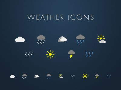 Weather-icons-dribbble