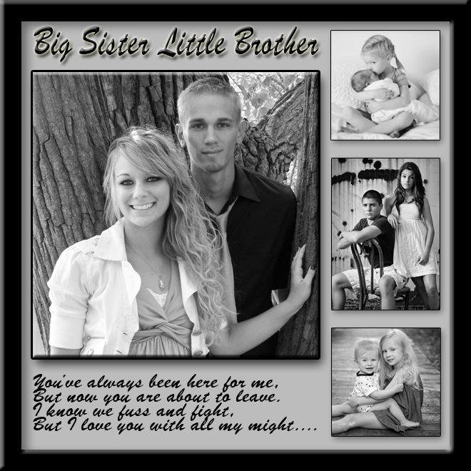Brother-Sister Template Design# Family-001 | Family Collages ...