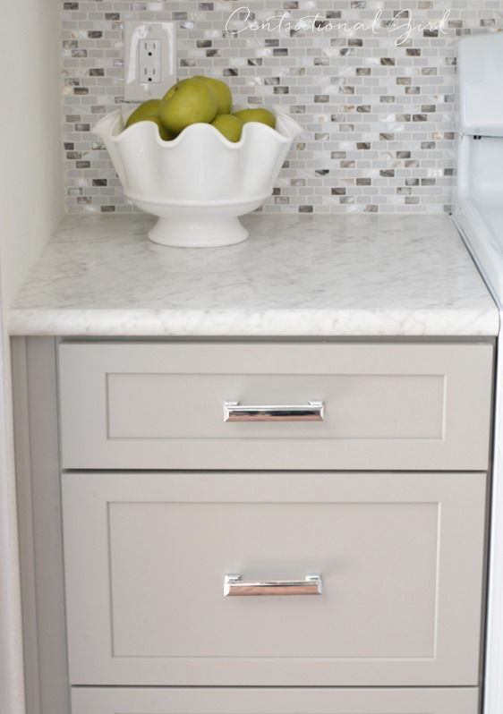 Gray White Kitchen Remodel Centsational Style Replacing