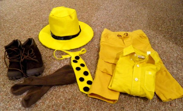 ffa730e79a4 DIY Halloween Costume  Man in the Yellow Hat from Curious George ...