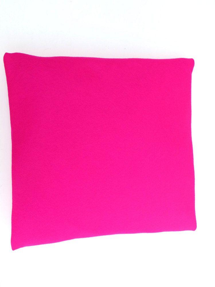 Bright Pink Cushion Cover Pillow Case Felt By Weltinfelt