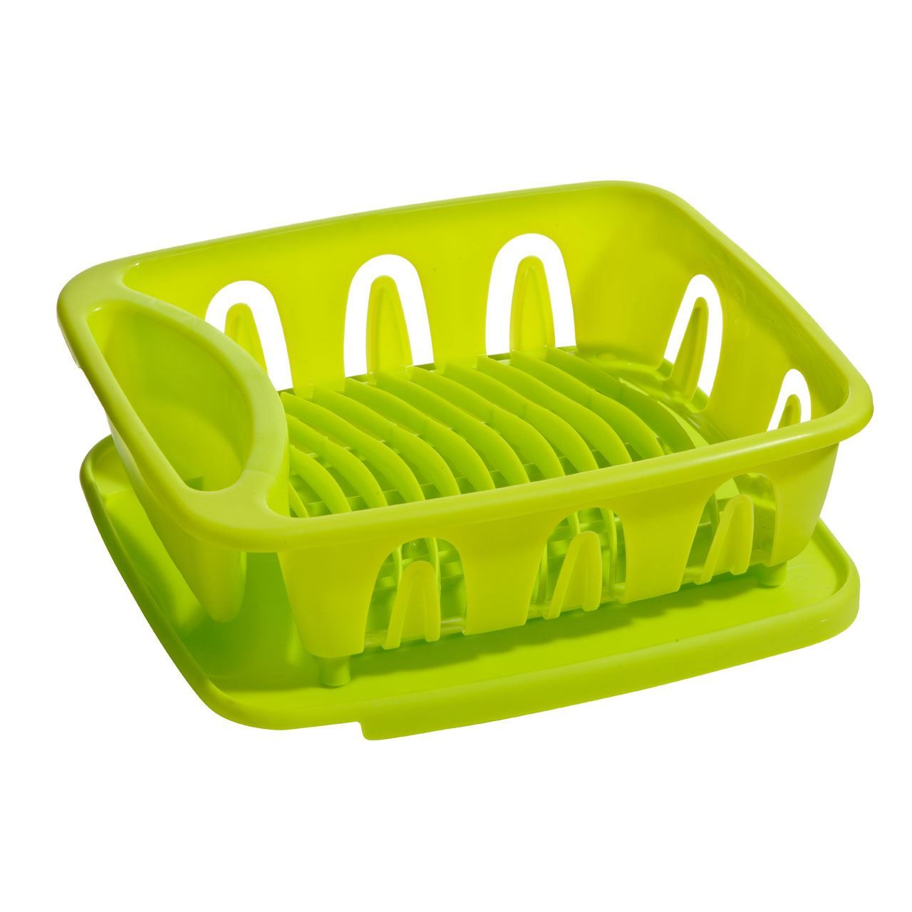 Lime Green And Black Kitchen Accessories: Dish Drainer Plastic Removable Tray Kitchen Accessories