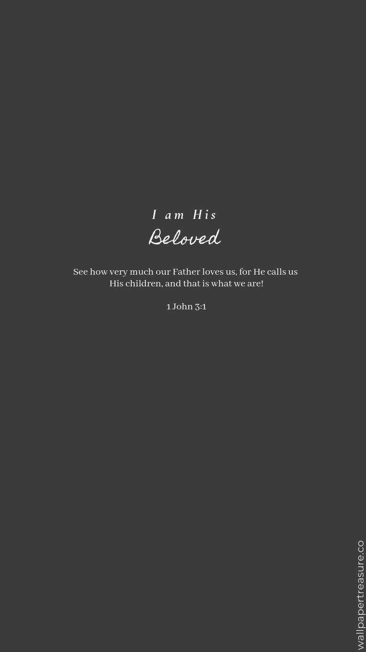 Minimalist Bible Verse Phone Wallpaper