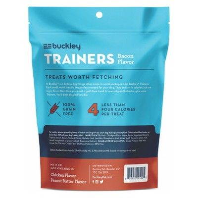 Buckley Trainers Bacon Dog Treats 6oz Products Peanut Butter