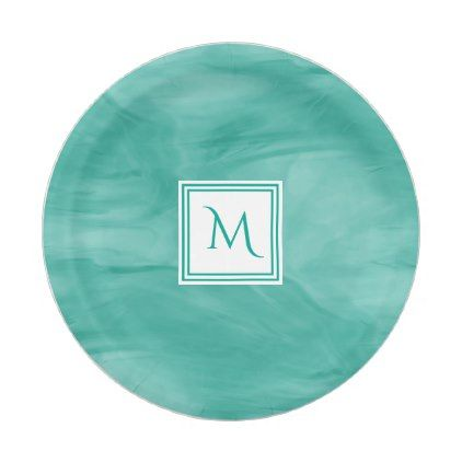 Simple Teal Green Subtle Marble Modern Monogram Paper Plate | Teal green and Monograms  sc 1 st  Pinterest & Simple Teal Green Subtle Marble Modern Monogram Paper Plate | Teal ...